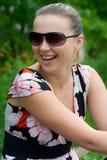 A menina de riso nova Fotografia de Stock Royalty Free