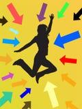 Menina de salto Ilustração Stock