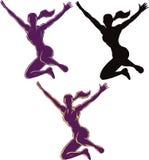 Menina de salto do esboço Fotografia de Stock Royalty Free