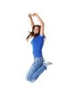 Menina de salto do estudante Fotos de Stock Royalty Free