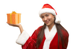 Menina de Santa Foto de Stock
