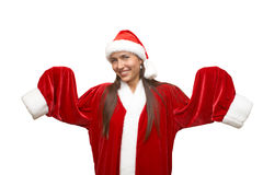 Menina de Santa Imagens de Stock Royalty Free