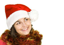 Menina de Santa Fotografia de Stock Royalty Free