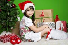 Menina de Santa Fotos de Stock
