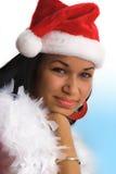 Menina de Santa Fotografia de Stock