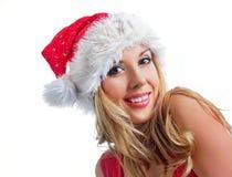 Menina de Santa Fotos de Stock Royalty Free