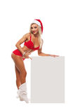 Menina de Santa Claus imagem de stock