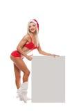 Menina de Santa Claus Foto de Stock Royalty Free