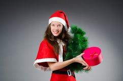 Menina de Santa da neve Fotografia de Stock Royalty Free