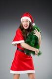 Menina de Santa da neve Imagem de Stock