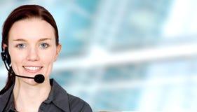 Menina de serviço do cliente empresa Imagem de Stock