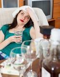 Menina de sofrimento que tem a manutenção Imagem de Stock Royalty Free