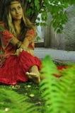 Menina de sonho no parque Imagens de Stock