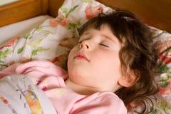Menina de sono Imagem de Stock Royalty Free