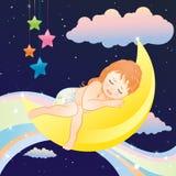 Menina de sono Fotos de Stock Royalty Free