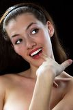 Menina de sorriso 5 Imagem de Stock Royalty Free