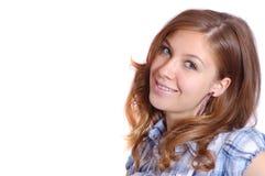 Menina de sorriso agradável Fotografia de Stock Royalty Free