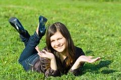 Menina de sorriso bonita Imagem de Stock Royalty Free