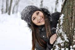 Menina de sorriso bonita Fotografia de Stock