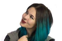 Menina de sorriso bonita que olha para cima Fotografia de Stock Royalty Free