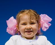 Menina de sorriso bonito fotografia de stock royalty free