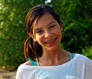Menina de sorriso com cintas Foto de Stock Royalty Free