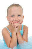 Menina de sorriso da bailarina fotografia de stock