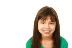Menina de sorriso da raça misturada que olha a câmera Imagens de Stock Royalty Free
