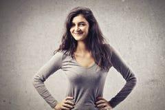 Menina de sorriso de Brown Imagens de Stock Royalty Free