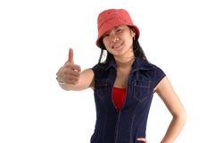 Menina de sorriso de Expresions Imagens de Stock