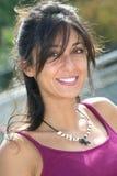 Menina de sorriso feliz Fotos de Stock Royalty Free