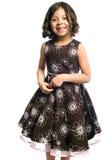 Menina de sorriso no vestido de partido Foto de Stock Royalty Free