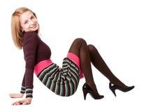 Menina de sorriso nova Imagens de Stock