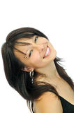 Menina de sorriso nova bonita Fotos de Stock Royalty Free