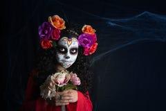 Menina de Sugar Skull imagens de stock