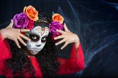 Menina de Sugar Skull fotos de stock royalty free
