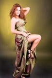 Menina de tentação do pino-acima em um vestido Imagem de Stock Royalty Free