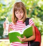 Menina de volta à escola Foto de Stock