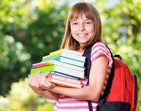 Menina de volta à escola Imagens de Stock