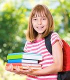 Menina de volta à escola Fotos de Stock