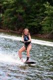 Menina de Wakeboarding Fotografia de Stock