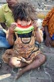 Menina deficiente com fome Imagem de Stock Royalty Free