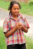 Menina deficiente tonificada escura Imagem de Stock