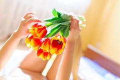 Menina delicada do nude Imagens de Stock Royalty Free