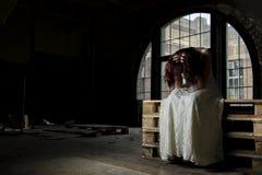 Menina deprimida Fotografia de Stock