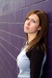 Menina deprimida Imagens de Stock