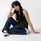 Menina deprimida Foto de Stock