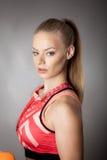 Menina desportiva com composição brilhante Imagem de Stock Royalty Free