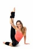 Menina desportiva da ginástica aeróbica Fotos de Stock