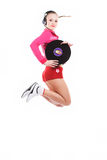 Menina DJ Foto de Stock Royalty Free
